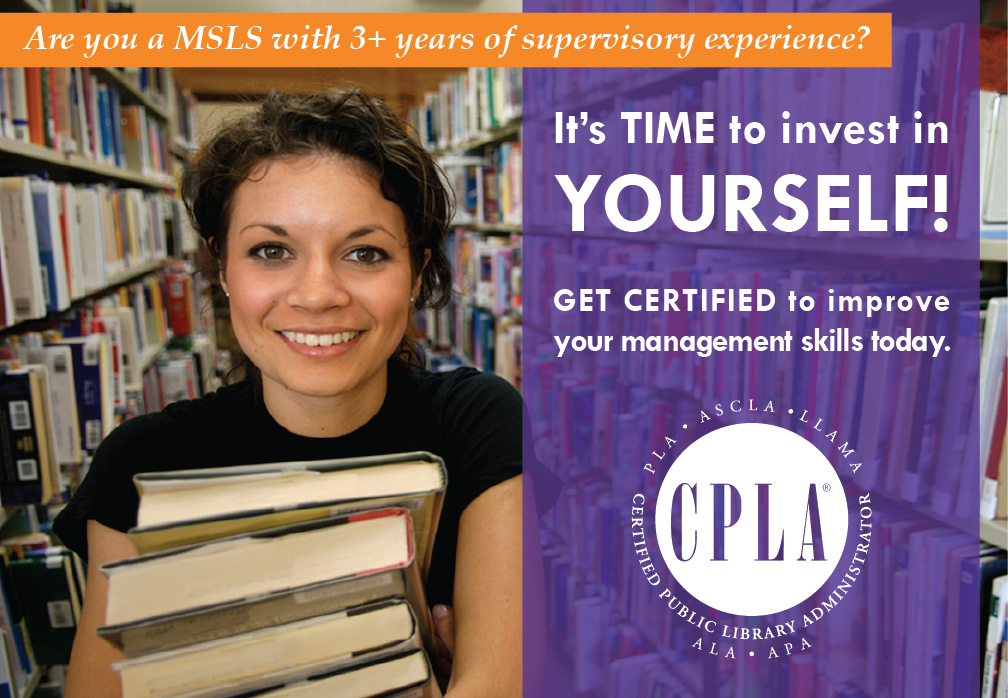 Certified Public Library Administrator Program